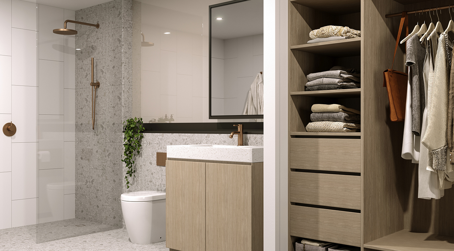 Luxury Bathroom Moonee Ponds Apartment